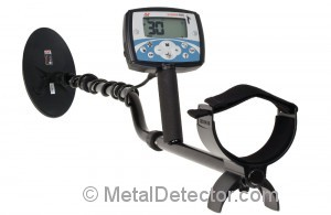 Minelab X-Terra 705 Gold Pack Pictured above with a high frequency elliptical coil for locating gold nuggets. Enjoy a $50 Product Savings Certificate with your purchase from MetalDetector.com.