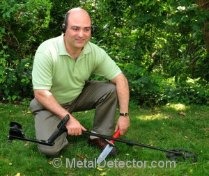 Michael Bernzweig metal detecting with the popular XP DEUS wireless metal detector.