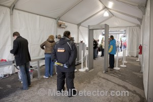 """The Garrett Magnascanner is one of the most popular walk through metal detectors for outdoor and indoor events"" according to Michael Bernzweig of MetalDetector.com."
