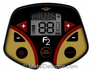 Fisher F2 Metal Detector Display
