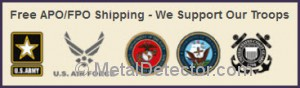 MetalDetector.com provides free shipping for military personnel .