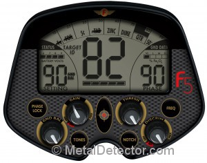 Fisher F5 Metal Detector Controls and Display Screen