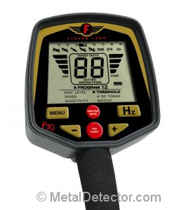 Picture of the Controls on the Fisher F70 Metal Detector