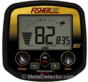 Fisher Gold Bug Metal Detector Controls and LCD Display Screen