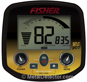 Fisher Gold Bug Pro Metal Detector Controls