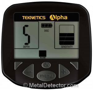 Teknetics Alpha 2000 Metal Detector Display