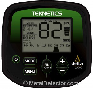 Teknetics Delta 4000 Metal Detector LCD Display