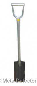 Full length view of the Lesche GS Ground Shark Shovel for Metal Detecting