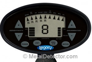 Bounty Hunter Legacy 2500 Metal Detector display and controls