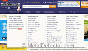 "Easily shop for metal detectors using the ""Browse Shop"" tab found at MetalDetector.com."