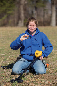 Woman with her Garrett Ace 200 metal detector