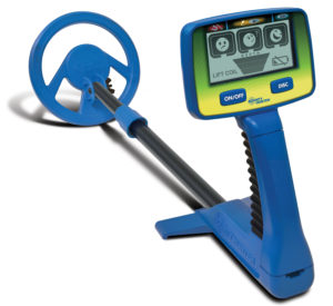 The Bounty Hunter Junior Target ID metal detector is perfectly sized for younger children.
