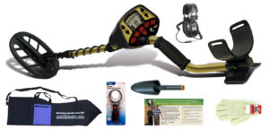 "Fisher F4 Metal Detector with Waterproof 11"" DD Search Coil and Bonus kit Black Friday Bundle"